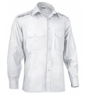 LSL Vigilant Men's long-sleeve shirt with shoulder flaps Popline 65% Polyester 35% Cotton 120gsm