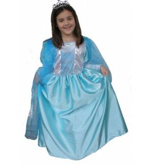 Carnival Halloween Costume Kids BLUE Queen 2-12 years MARK643