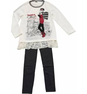 CHILDRENS SET LEGGINGS AND BLOUSE MADE IN GREECE MARK918